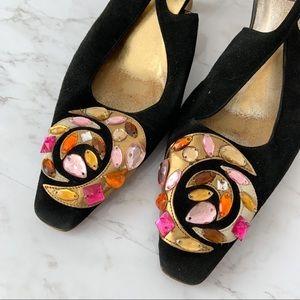 Gucci Slingbacks Velvet Heels/pumps size 8